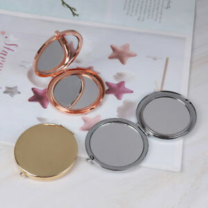 Vintage-alloy-compact-pocket-mirror-folded-makeup-cosmetic-mirror-magnifying-JG