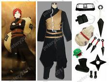 Custom-made Naruto Shippuuden Gaara Cosplay Party Costume Set
