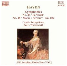 Haydn: Symphonies No. 45, No. 48, No. 102 Joseph Haydn, Barry Wordsworth, Capel