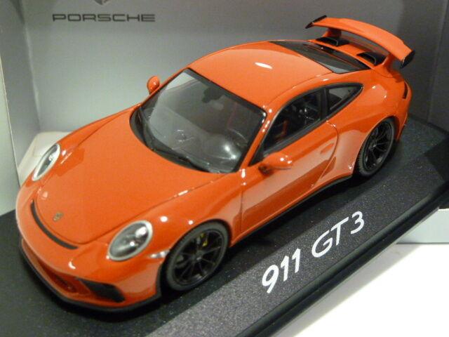 1 43 Minichamps Porsche 911 GT3 (991 II) 2017 Guards rouge WAP0201490H Dealer vers