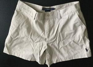 RALPH-LAUREN-SPORT-Polo-Womens-Shorts-Size-4-Beige-w-Bottom-Pony
