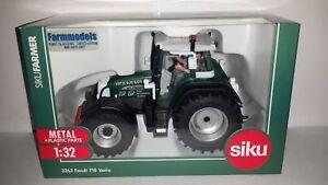3263, édition limitée, tracteur Siku Fendt 716, kilomètre carré, boîte noire 1:32