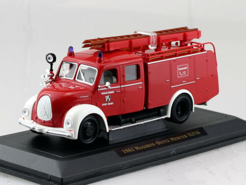Magirus Deutz Mercur TLF 16 Feuerwehr 1961 rot  1:43 Yat Ming Modellauto