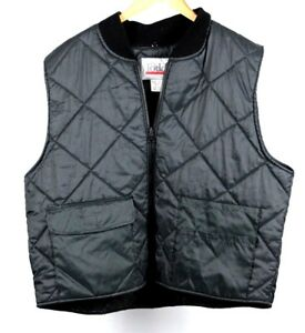 Todd-Mens-Black-Zippered-Puffer-Vest-Size-1X