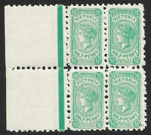 Victoria-1912-d-Bluish-Green-SG-461-MNH-Block-of-Four
