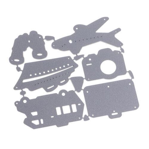 1 Satz Travel Accs Stanzformen Schablone für Scrapbook Album Papierprägung