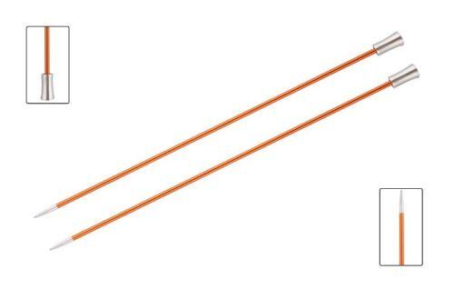 KnitPro Zing solo punto Agujas de Tejer de recta-todos Los Tamaños-longitud 30cm