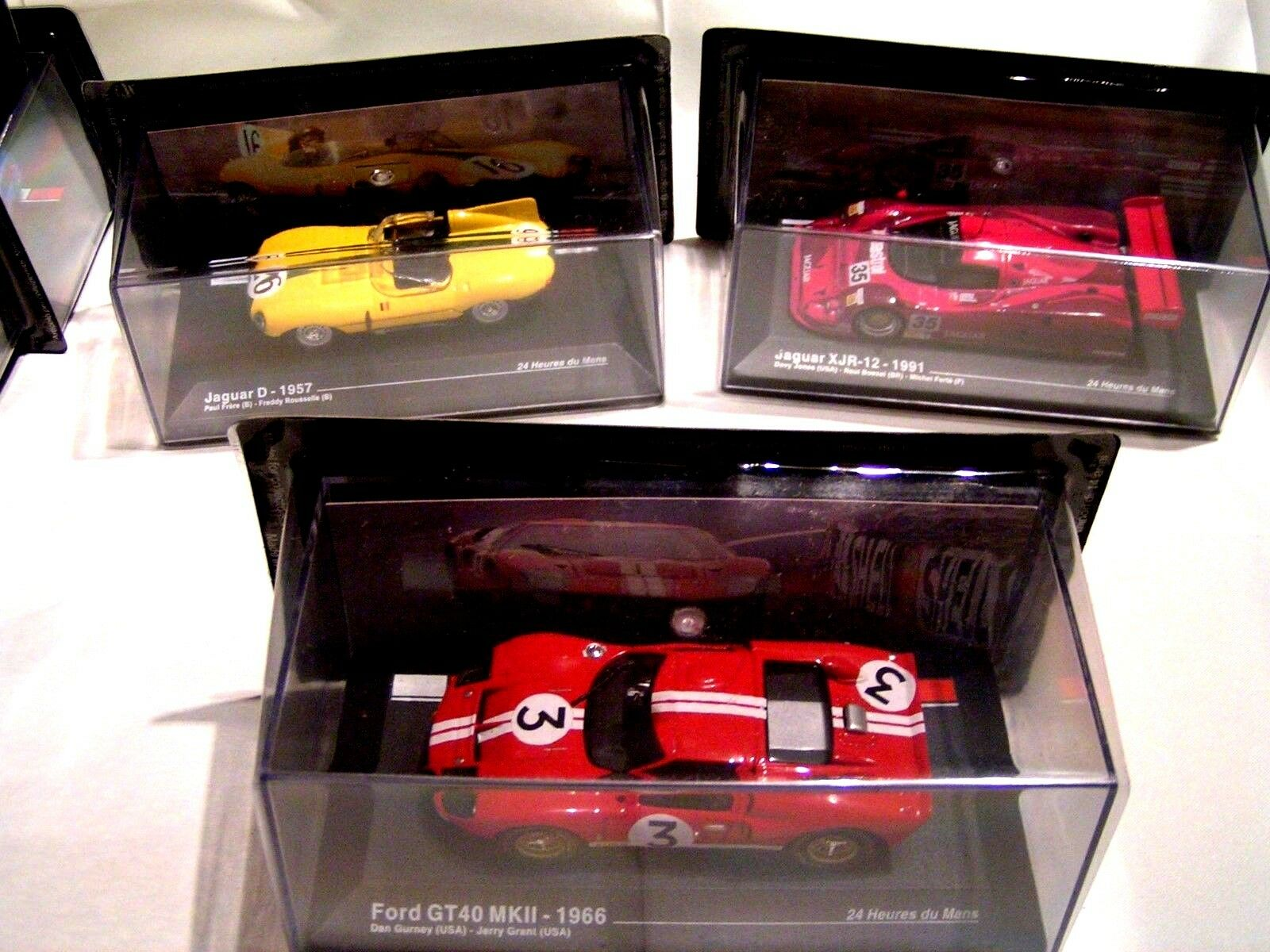 IXO 1/43-1:43   -   LOT LE MANS = FORD GT 40 + 2  JAGUAR   EN BOÏTES SCELLEES