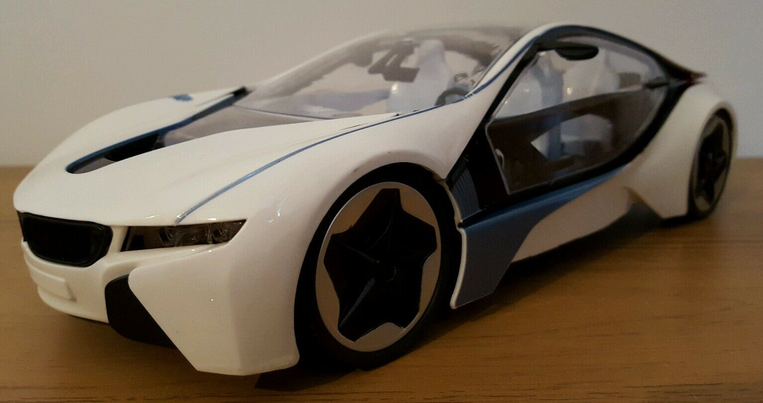 GRAND BMW i8 i8 i8 RECHARGEABLE RADIO TÉLÉCOMMANDE VOITURE 1 14 white 8f2fcd