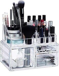 Espositore Organizer Porta Trucco Box Portagioie Cosmetici 3 Cassetti Art. 10257