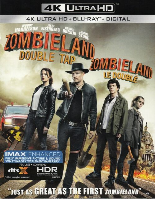 ZOMBIELAND DOUBLE TAP (4K ULTRA HD/BLURAY)(2 DISC SET)(USED)