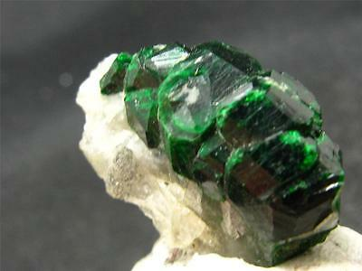 HUGE RARE UVAROVITE GARNET CRYSTAL ON MATRIX FROM FINLAND - 1.1""