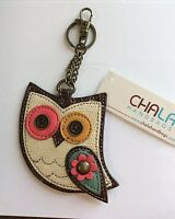 Chala Colorful Owl Key Chain Charm Ring Coin Purse