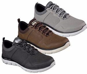 SKECHERS-FLEX-ADVANTAGE-DALI-52124-scarpe-uomo-sportive-casual-pelle-sneakers