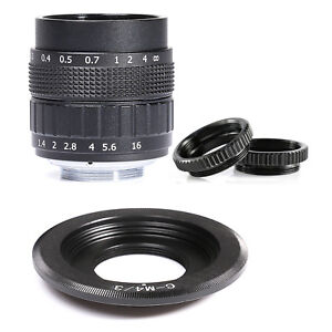 Fujian-50mm-F1-4-CCTV-Movie-Objektiv-C-Mount-an-Micro-4-3-m4-3-EPL5-EPM3-EPL7-schwarz