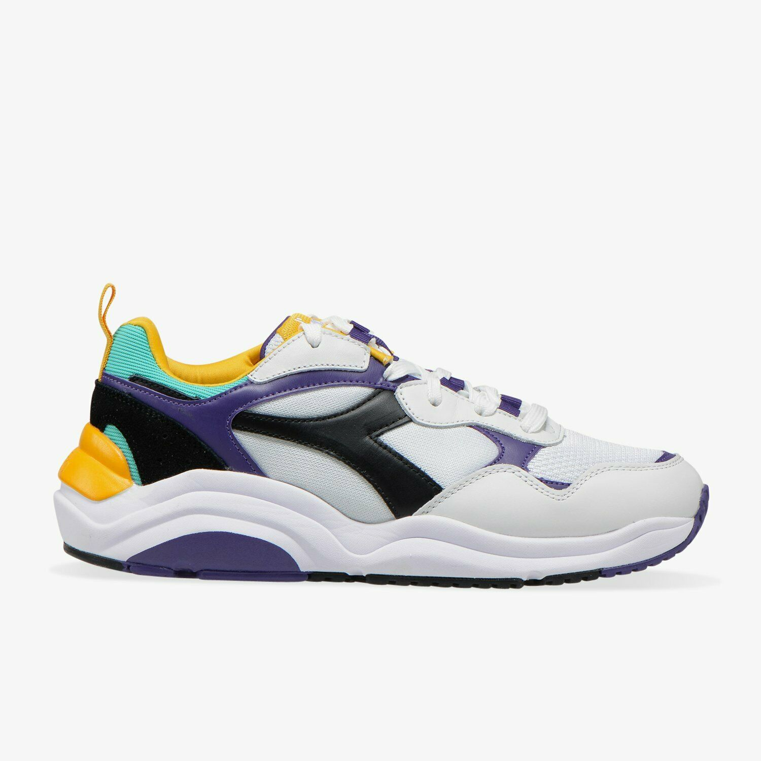 Diadora WHIZZ RUN baskets hommes blanc noir celeste