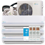 36000-BTU-Tri-Zone-Ductless-Mini-Split-Air-Conditioner-and-Heat-Pump-SEER-22 thumbnail 1