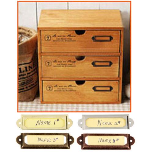 50pcs Cadre Etiquette de Nom Porte-étiquette pour Porte Tiroir Laiton