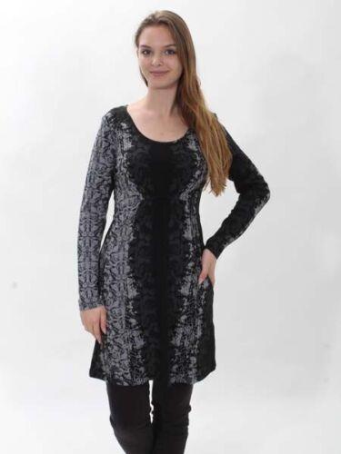 30/% Kurzes Kleid Onyx von Yest Gr 44 schwarz grau Viscosejersey neu