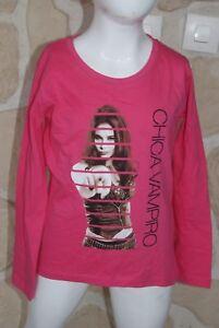 Joli-tee-shirt-fille-rose-de-marque-CHICA-VAMPIRO-taille-14-ans-dy