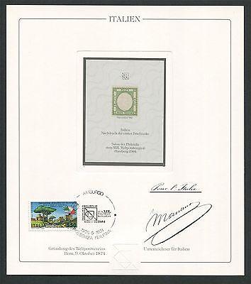 Treu Italien No. 1 Reprint Upu Congress 1984 Official Delegate Gift !! Rare !! Z1787