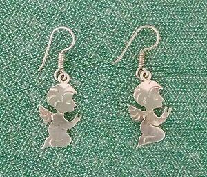 Vintage-Angel-Earrings-925-Genuine-Sterling-Silver-Taxco-1-5-034-NWOT-90-039-s