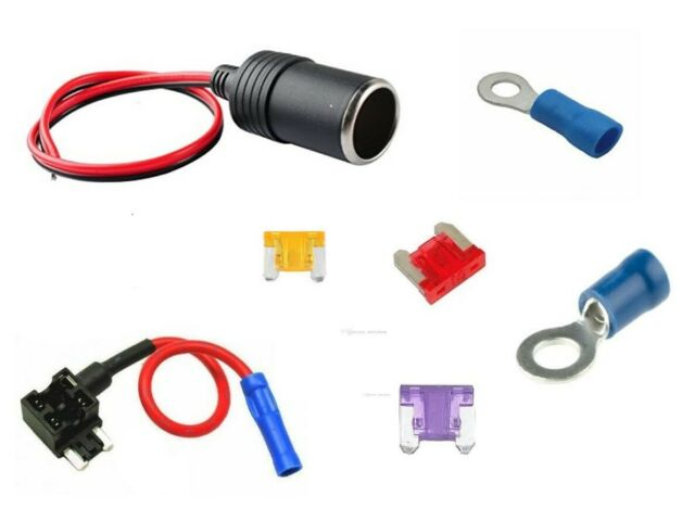 Vehicle Car Micro Low Profile Blade Fuse Assortment Holder Dash Cam USB Hard Wire Micro Low Profile Blade Fuse Holder Add a Circuit