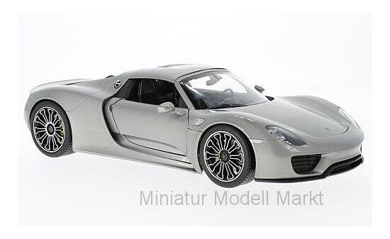 Welly Porsche 918 Spyder - silver - Hard Hard Hard Top - 2011 - 1 18 b8848a