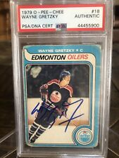 1979 O Pee Chee Wayne Gretzky 1st Print Signed Autographed RC Rookie #18 PSA/DNA