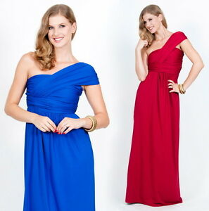 NEW-Womens-Grecian-Sexy-One-Shoulder-Cocktail-Evening-Maxi-Dress-XS-S-M-L-XL