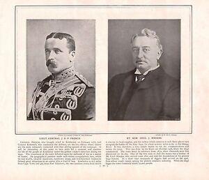 latest fashion low cost buy Details about 1900 ~ BOER WAR ~ LIEUTENANT GENERAL J.D.P.FRENCH ~ RT.HON  CECIL J.RHODES