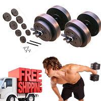 Dumbbell Set Golds Gym 40 Lb Vinyl Weight Home Fitness Equipment Adjustable