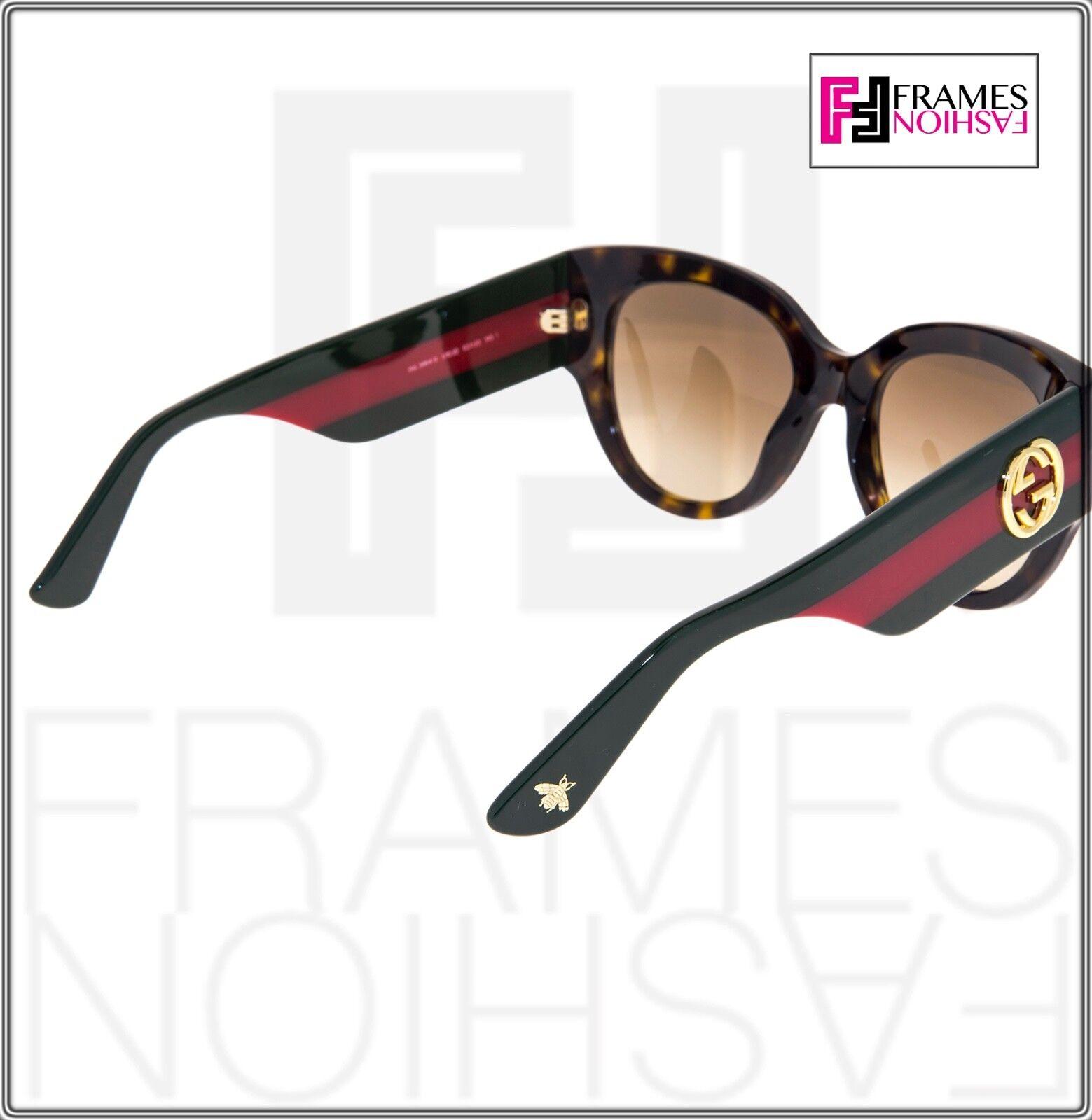 3f83fff4d7c Gucci Gg3864s Red Green Brown Havana Gradient Women Square Sunglasses 3864  Star for sale online