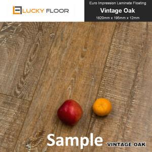 Laminate-Flooring-12mm-Vintage-Oak-Sample-Floating-Floorboard-Timber-Floor-DIY