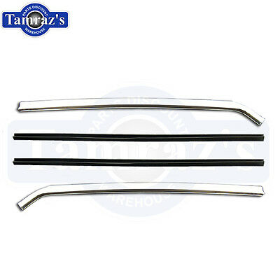 67-69 F Body 66-67 A Body Quarter Window Vertical Chrome Channels  -  Pair