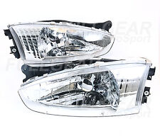 CLEAR HEADLIGHT PAIR SET CRYSTAL EURO FOR MITSUBISHI MIRAGE 2DR COUPE 1997-2002