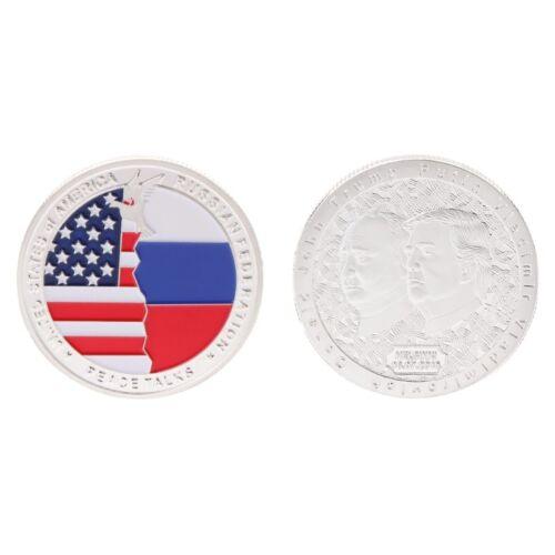 Commemorative Coin President Trump Putin Meeting Collection Arts Gifts Souvenir