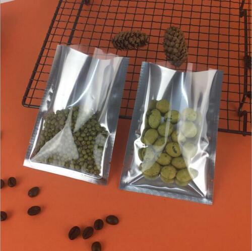 100Pcs Silver Aluminum Foil Bags Heat Seal Mylar Food Storage Vacuum Pouches lot