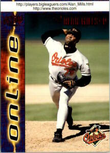 1998 Pacific Online Red Baltimore Orioles Baseball Card #94 Alan Mills