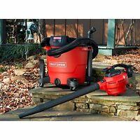 Craftsman 16 Gallon 6.5 Peak Hp Detachable Blower Wet/dry Vac Leaf Shop Vacuum