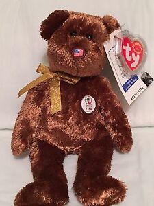 TY Beanie Baby - FIFA World Cup Bear United States Pristine w  Mint ... 61f32bc13ab7