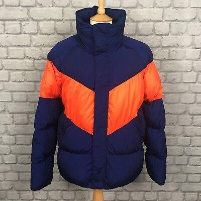 Nike Da Uomo UK s Windrunner giù giacca di riempimento Vuoto Blu Rosso Chevron Puffa Puffer   eBay