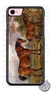 Two-Horses-Landscape-Art-Design-Phone-Case-fits-iPhone-Samsung-LG-Google-HTC-etc