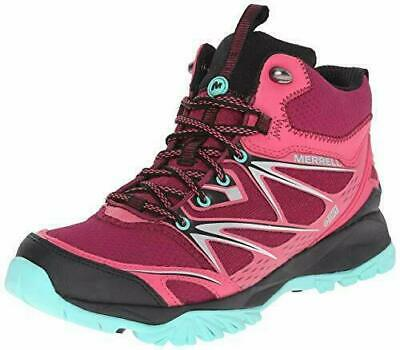 Utile Ladies Merrell Capra Bolt Mid Gore-tex Bright Red Trainer Hiking Boots Uk 3-7 Buoni Compagni Per Bambini E Adulti