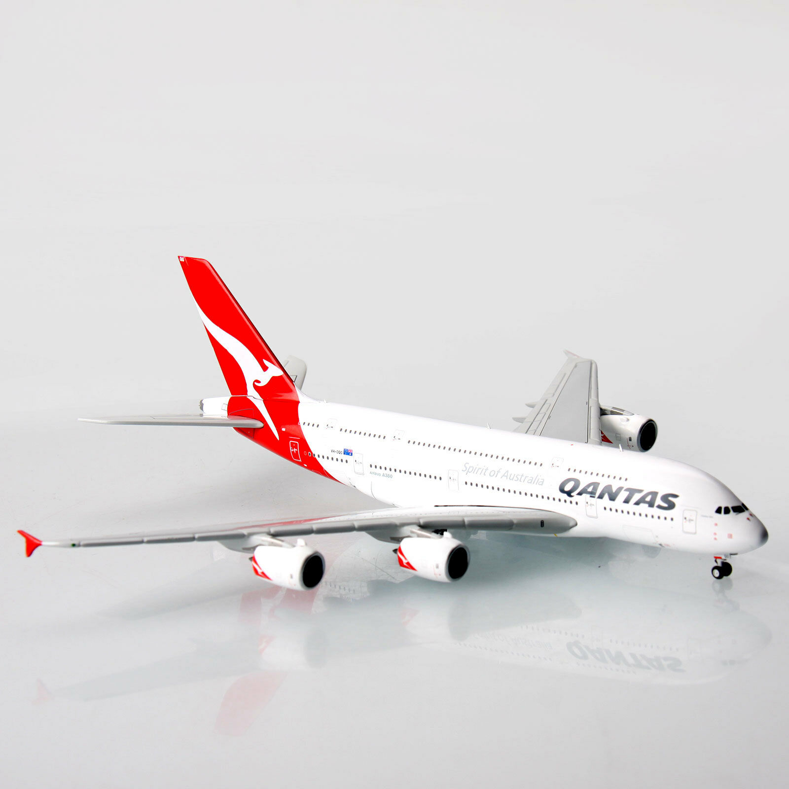Qantas Airbus A380 VH-oqg 1 400 scale die-cast Modelo A380 réplica aviones