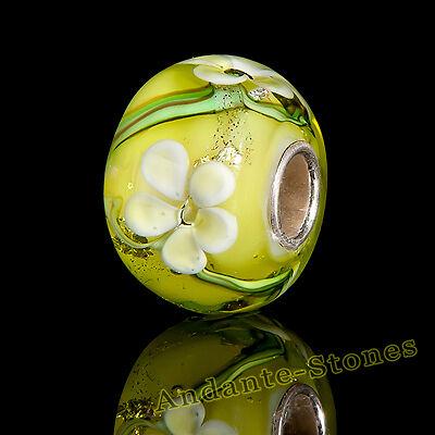 GESCHENK ANDANTE-STONES MASSIV 925 SILBER MURANO GLAS SEALIFE BEAD GRÜN #1689