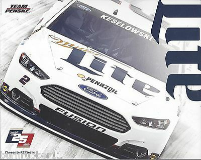 "2015 BRAD KESELOWSKI /""ALLIANCE TRUCK PARTS/"" #2 NASCAR SPRINT CUP POSTCARD"