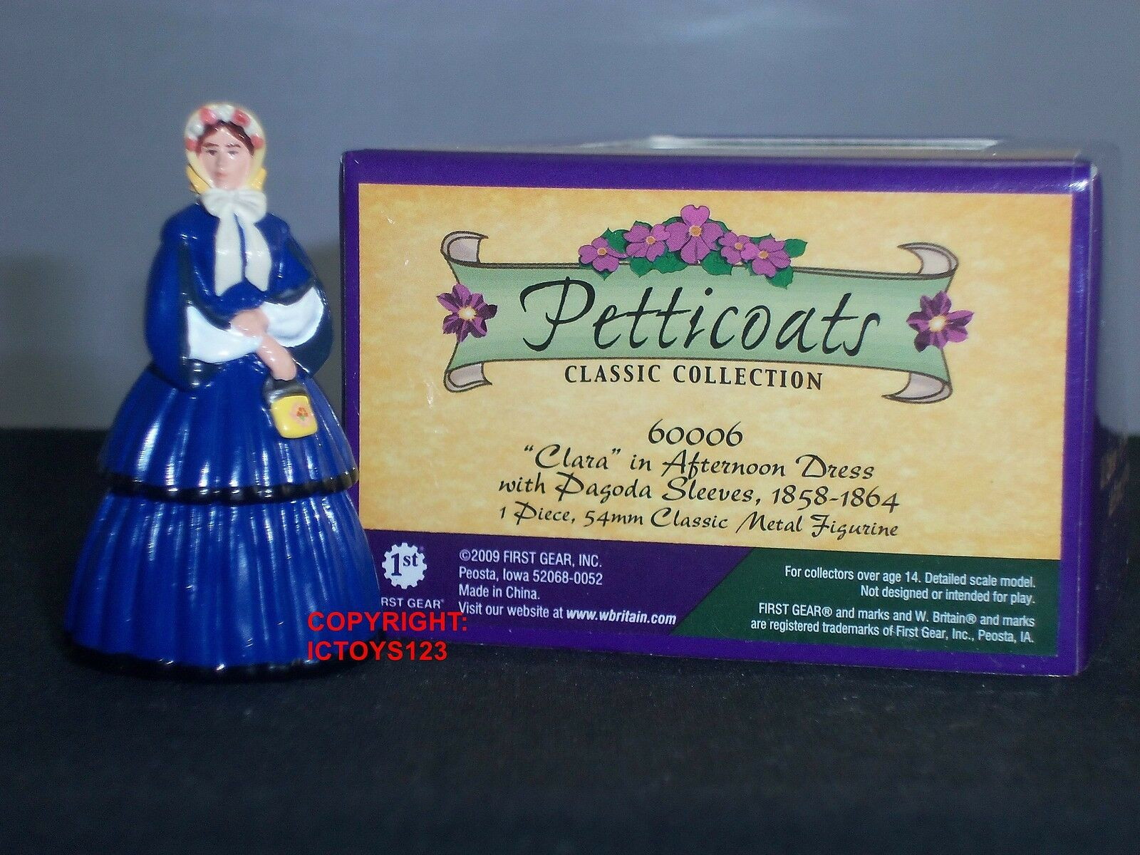 BRITAINS 60006 PETTICOATS CLARA WEARING AFTERNOON DRESS METAL CIVILIAN FIGURE