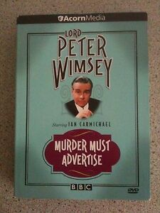 LORD PETER WIMSEY MURDER MUST ADVERTISE NTSC DVD - Belfast, United Kingdom - LORD PETER WIMSEY MURDER MUST ADVERTISE NTSC DVD - Belfast, United Kingdom