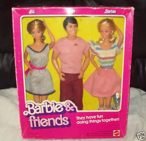 Raro Htf Barbie & Friends Barbie Ken P.j. Giftset Mib